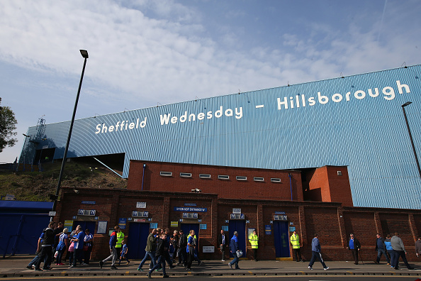 A general view outside Hillsborough home of Sheffield Wednesday.